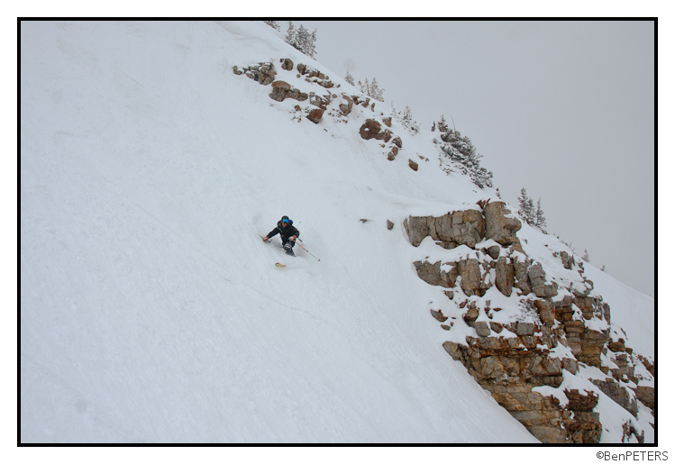 steep pow turns in utah