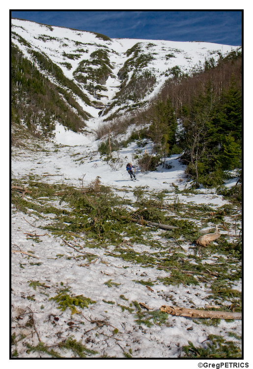 Avalanche debris beginning to melt out